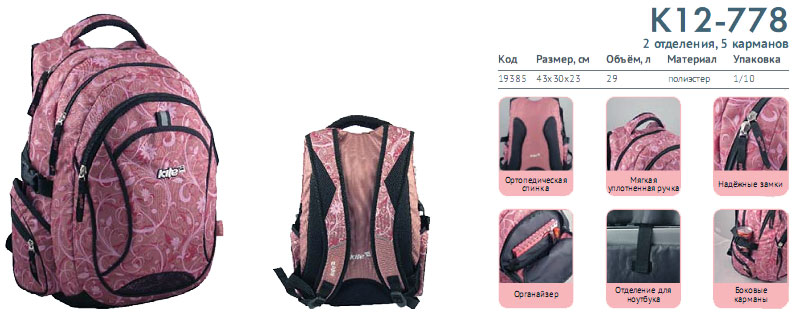 K12-778 Рюкзак Kite Beauty 778