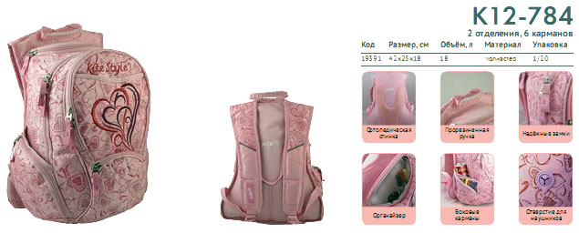 K12-784 Рюкзак Kite Beauty 784