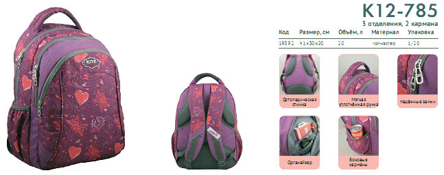 K12-785 Рюкзак Kite Beauty 785