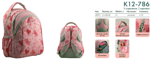 K12-786 Рюкзак Kite Beauty 786