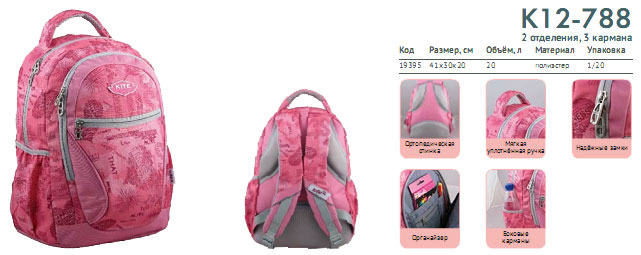 K12-788 Рюкзак Kite Beauty 788