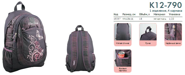 K12-790 Рюкзак Kite Beauty 790